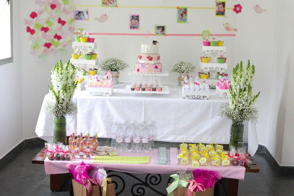 Decoraç u00e3o de batizado Jardim Encantado Maternidade Colorida -> Decoração De Aniversario Jardim Encantado Das Borboletas
