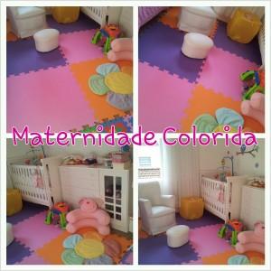 decoração do quarto de bebê; tapete de EVA