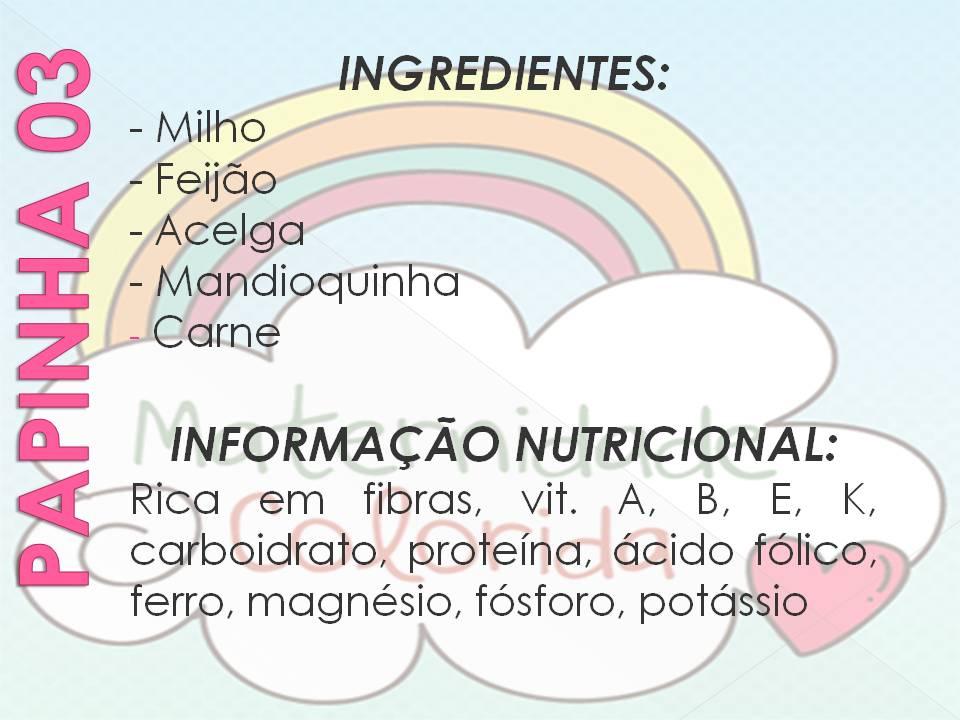 receita de papinha de bebê introdução alimentar