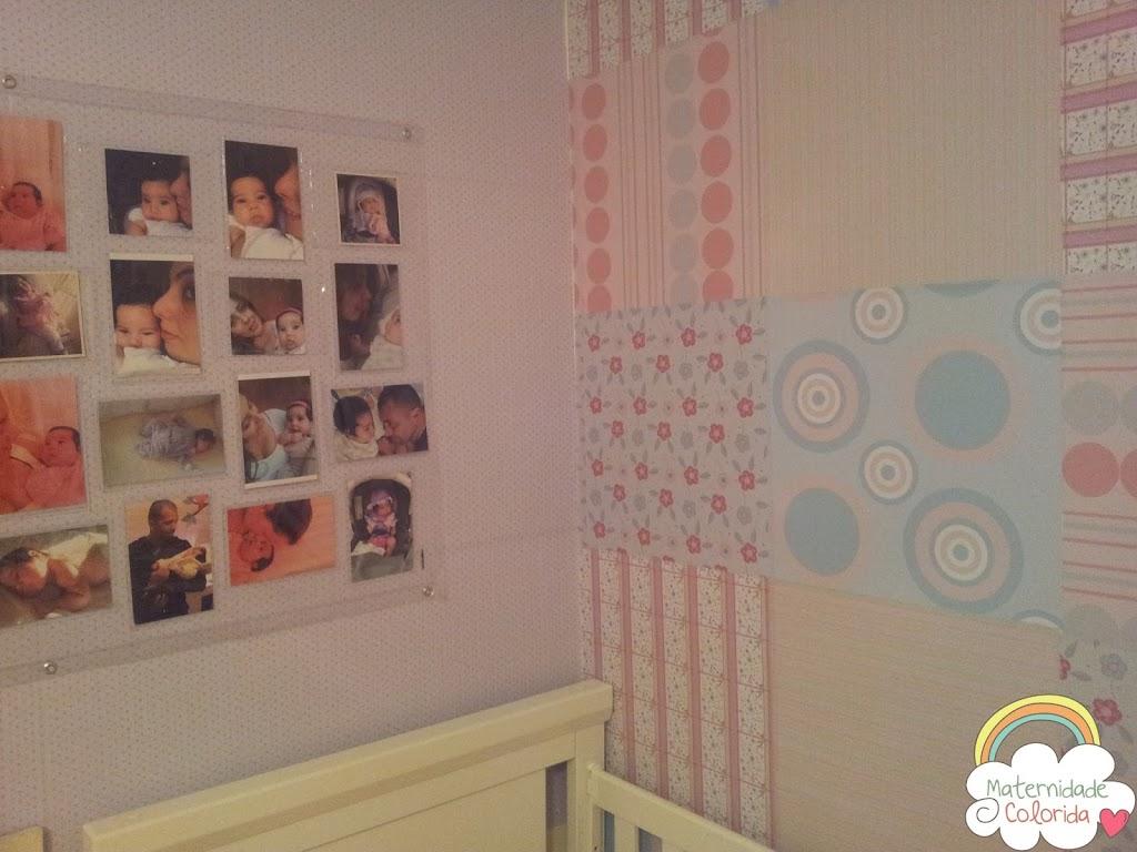 Quarto De Menina Decora O Patchwork De Adesivos Maternidade  ~ Enfeite Para Quarto De Bebe Em Eva