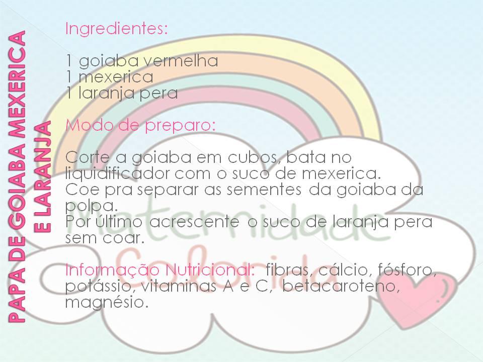 receita de papa de fruta