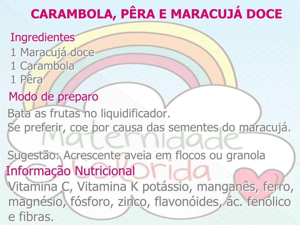 papa de fruta, receita, introdução alimentar