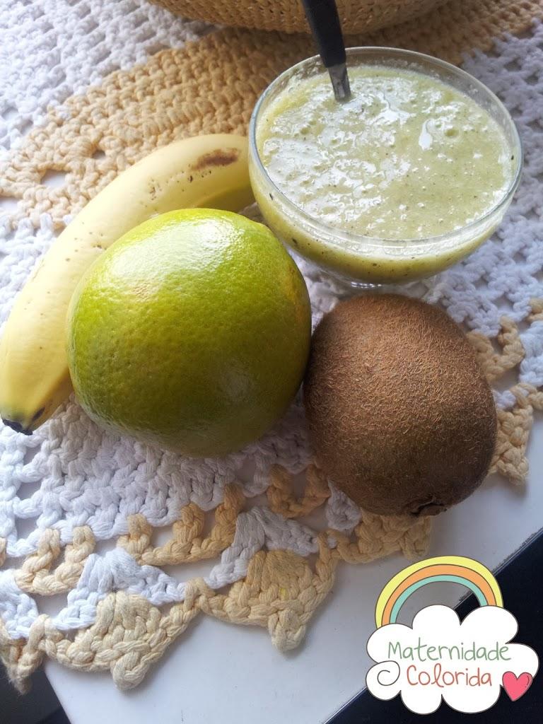 papa de fruta, introdução alimentar, receita