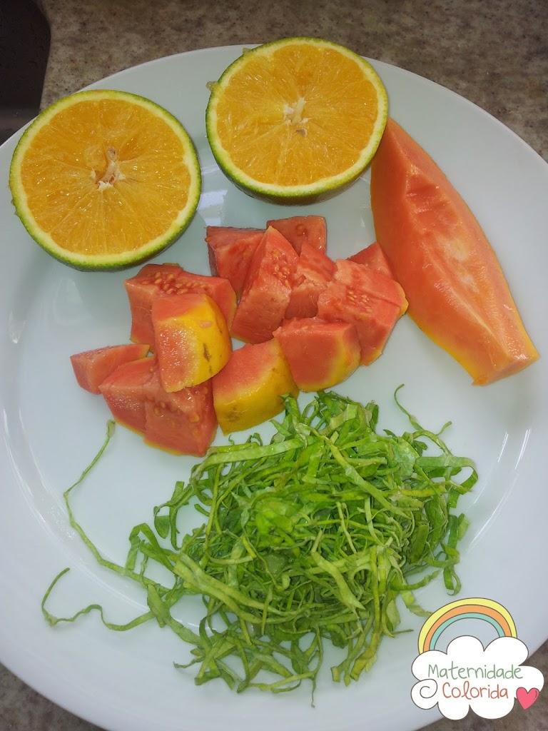 papa de fruta introdução alimenta, receita