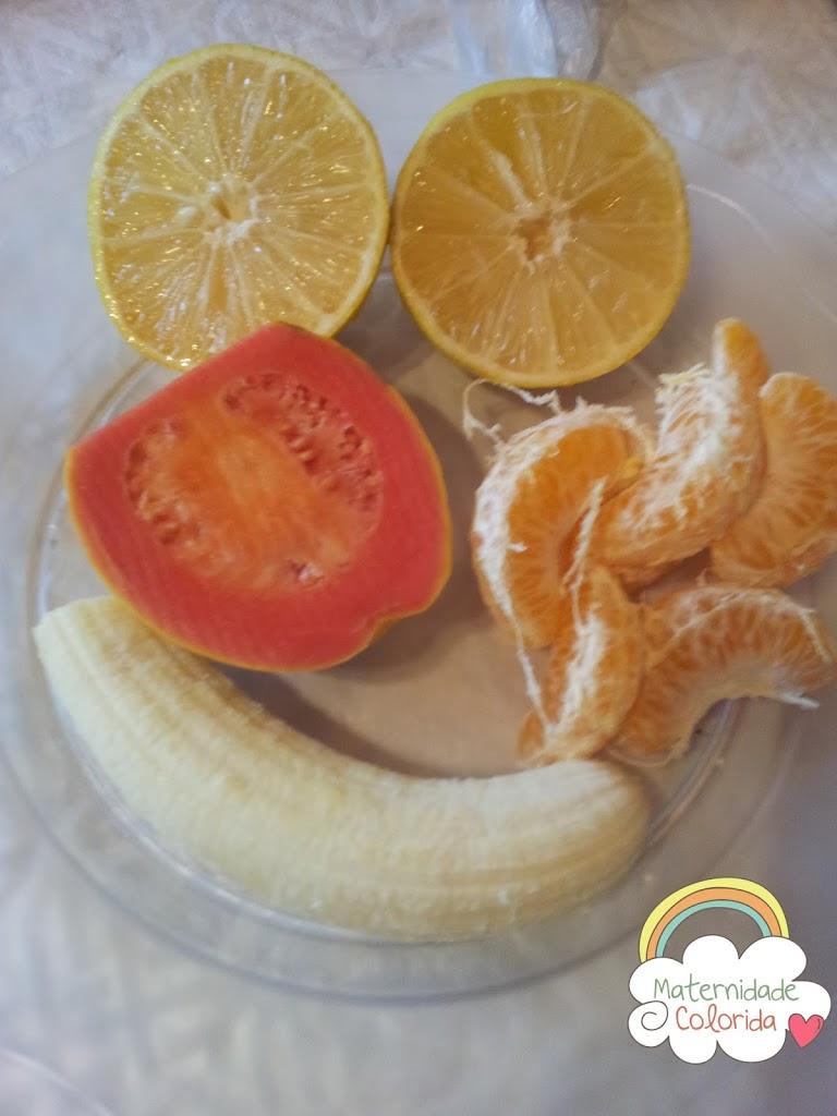papa de fruta, introdução alimentar receita