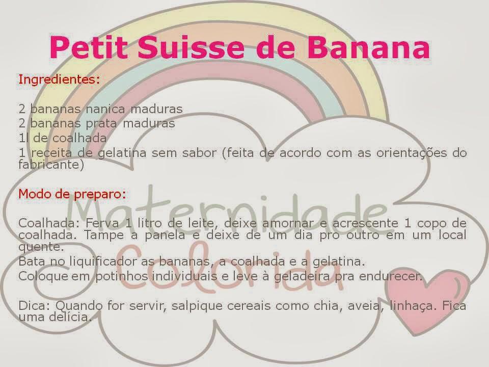 petit suisse de banana caseiro