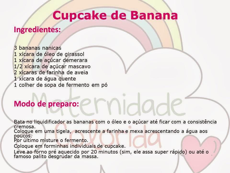 cupcake de banana
