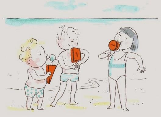 alimentação infantil saudável no parque ou praia