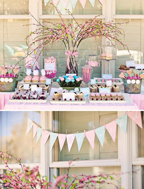 festa tema jardim clean:Flower Garden Birthday Party Ideas