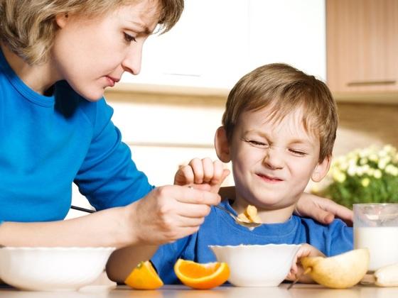 Criança doente não quer comer