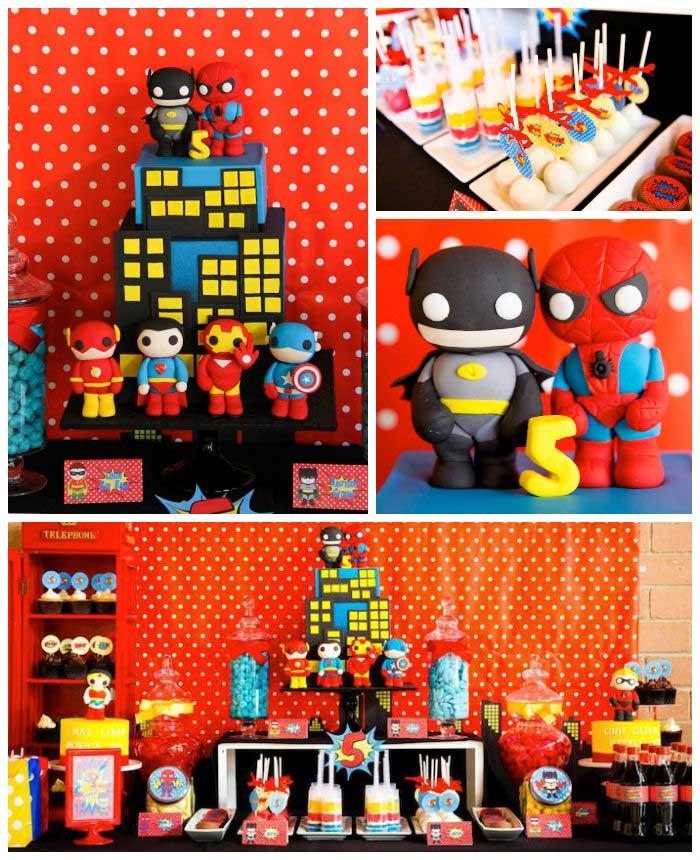 2 festa infantil super heroi