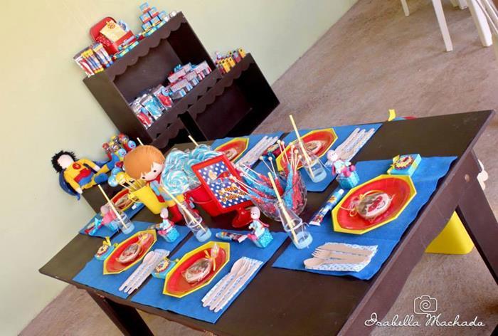 festa infantil super heroi 12