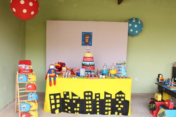 festa infantil super heroi 3