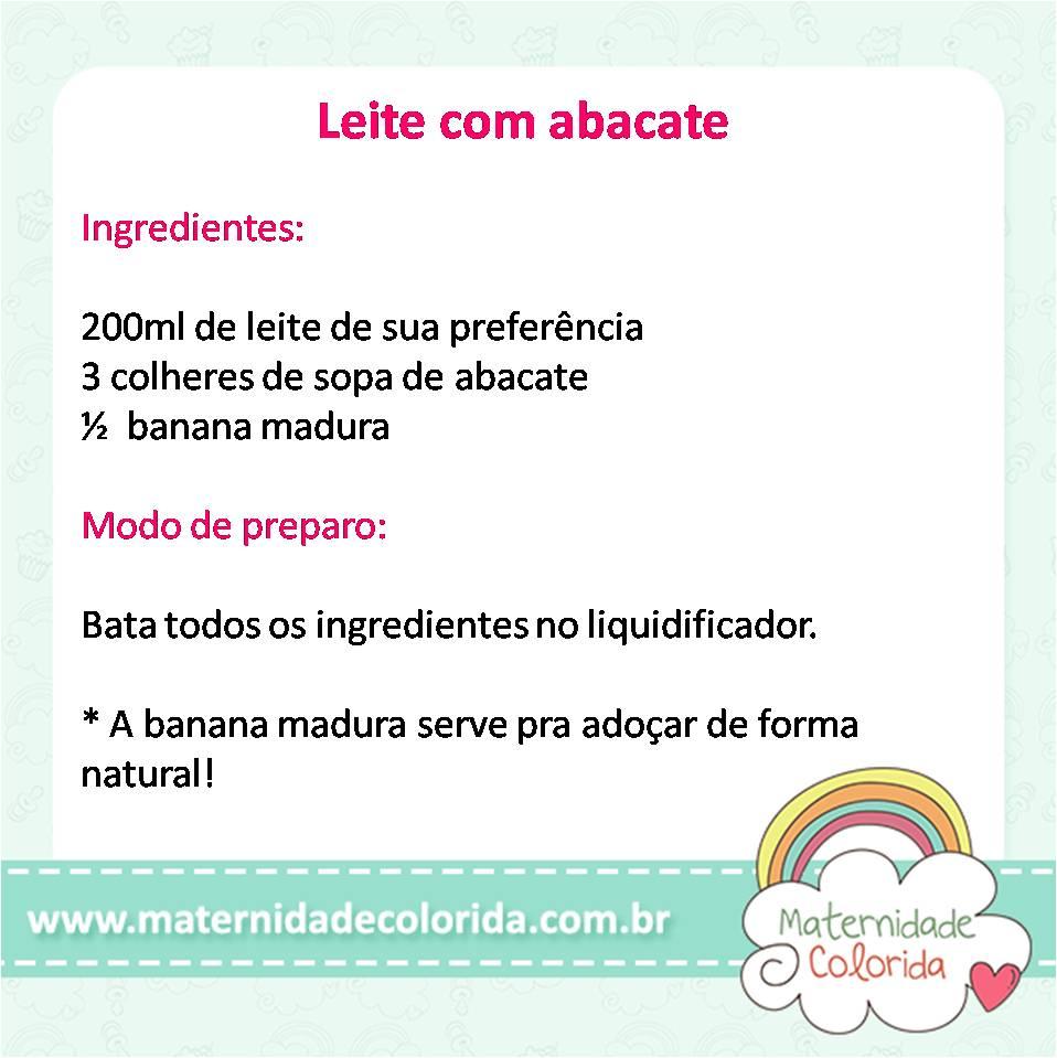 leite com abacate