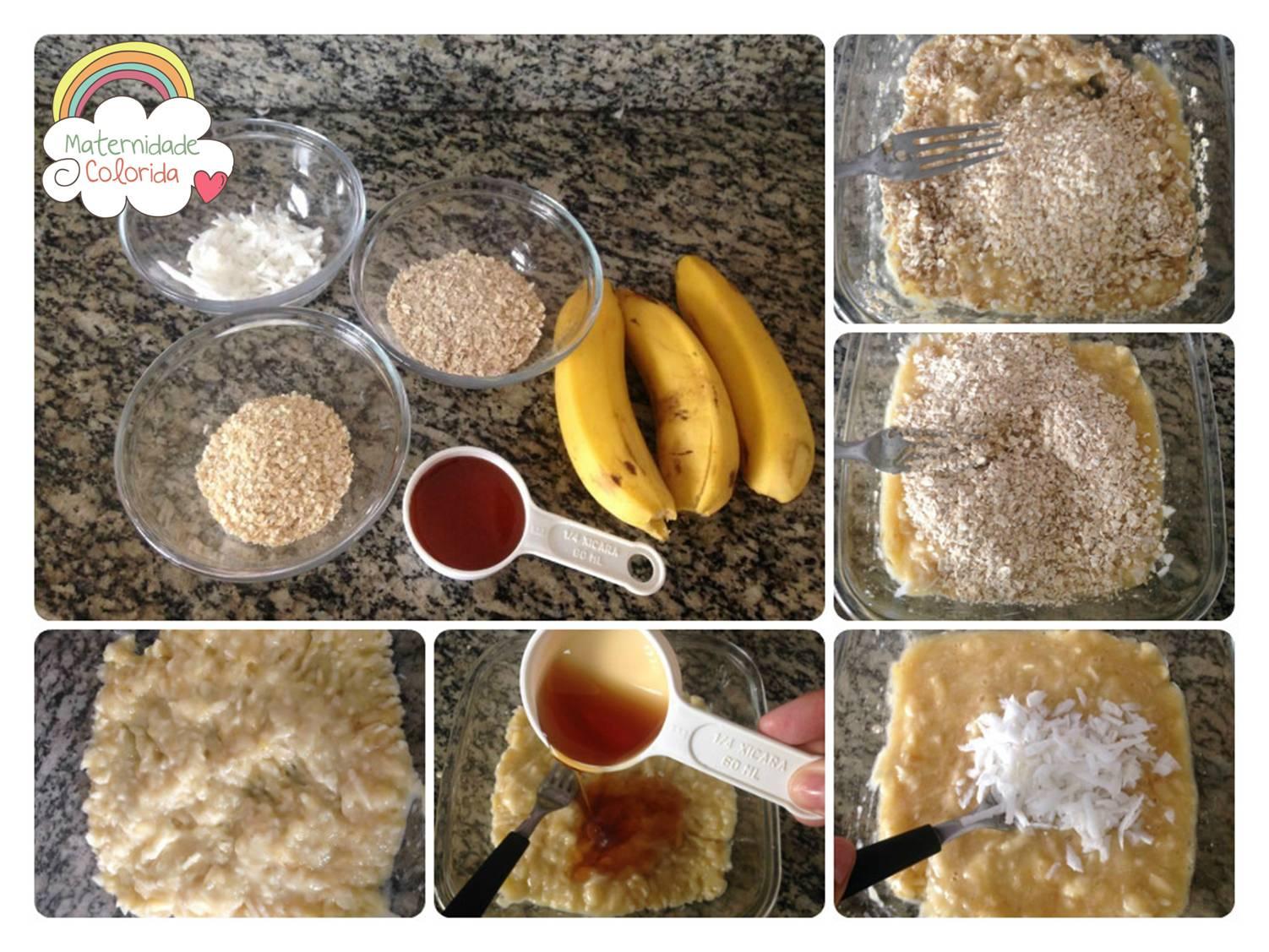 receita de cookie de banana, coco e mel 1
