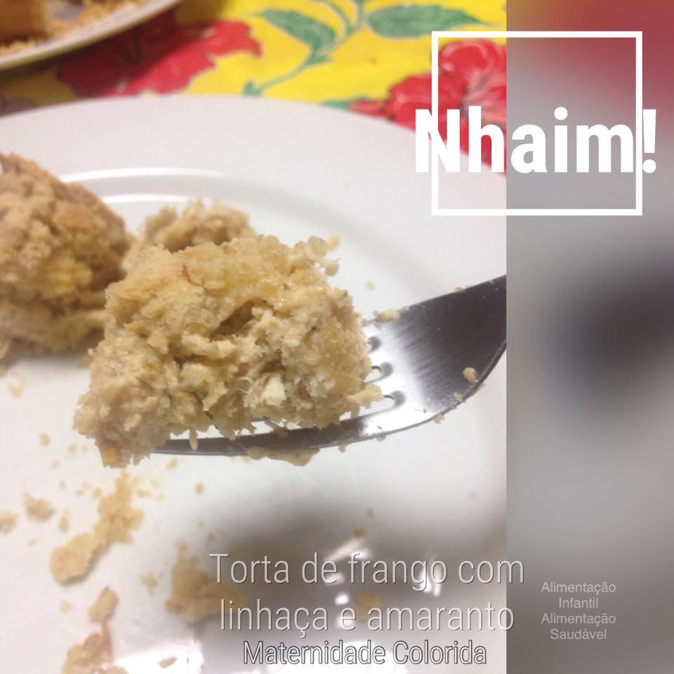 torta de frango- massa com linhaça e amaranto