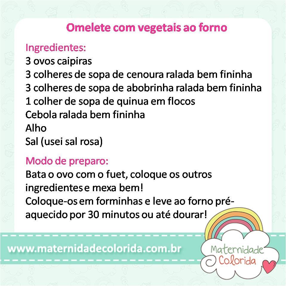 Omelete com vegetais ao forno