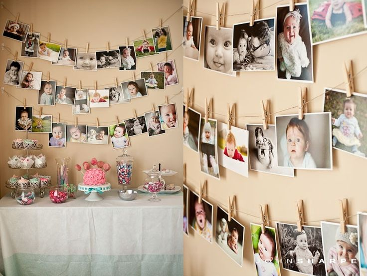 15 ideias de retrospectiva de fotos em festa de for Displaying pictures in your home
