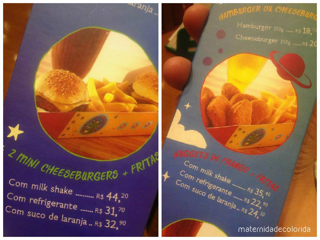 menu kids america