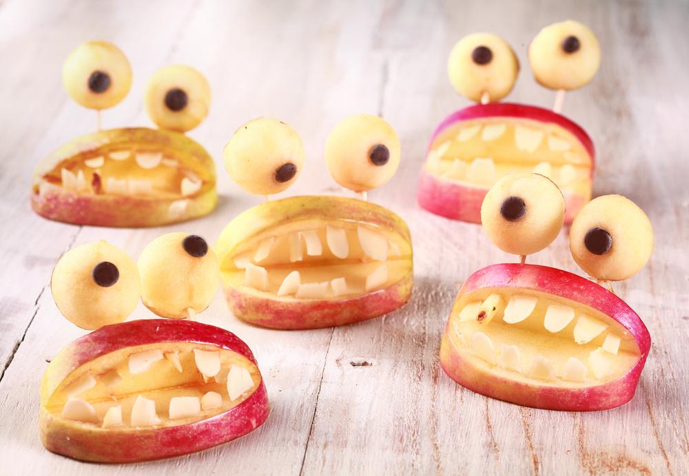 Comidinhas saudaveis para o Halloween